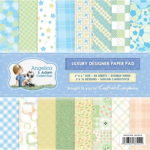 Crafters Companion Angelica and Adam Male 6x6 Luxury Paper Pad