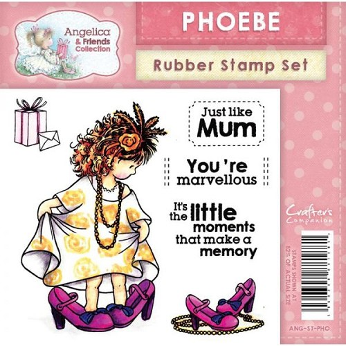 Crafters Companion Angelica and Friends - Phoebe Stamp