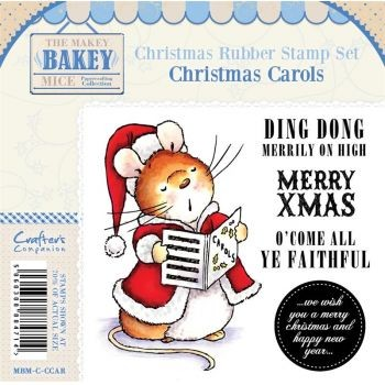 Makey Bakey Mice Christmas Rubber Stamps - Christmas Carols by C