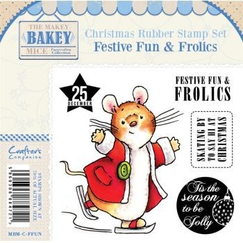 Makey Bakey Mice Christmas Rubber Stamps - Festive Fun & Frolics