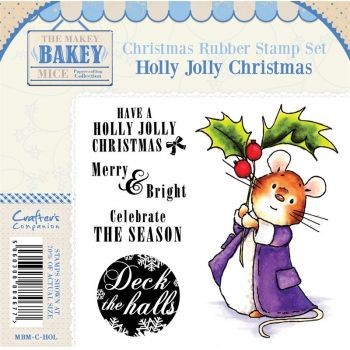 Makey Bakey Mice Christmas Rubber Stamps - Holly Jolly Christmas