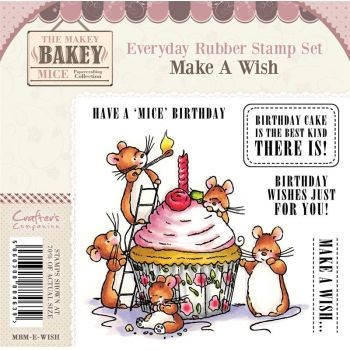 Makey Bakey Mice Everyday Rubber Stamps - Make A Wish by Crafter