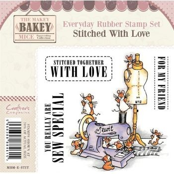 Makey Bakey Mice Everyday Rubber Stamps - Stitched With Love by