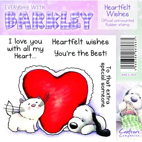 Barkley Everyday Stamp - Heartfelt Wishes by Crafter`s Companion tekst NL