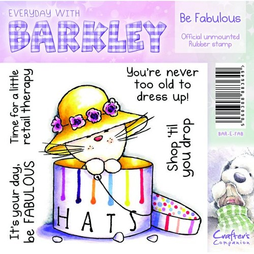 Barkley Everyday Stamp - Be Fabulous by Crafter`s Companion