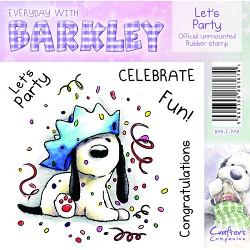 Barkley Everyday Stamp - Let`s Party by Crafter`s Companion