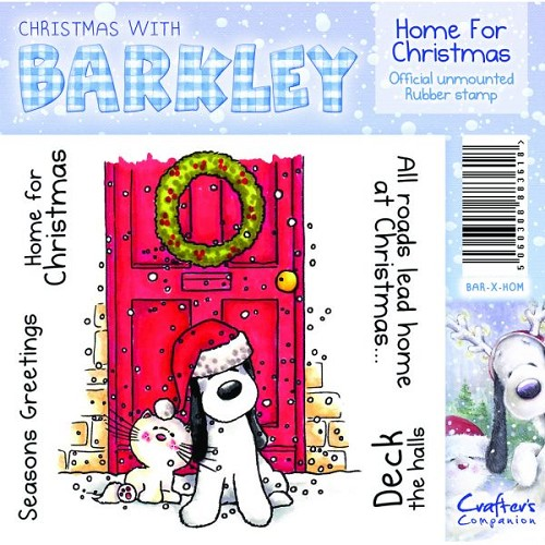 Barkley Christmas Stamp - Home For Christmas by Crafter's Compan