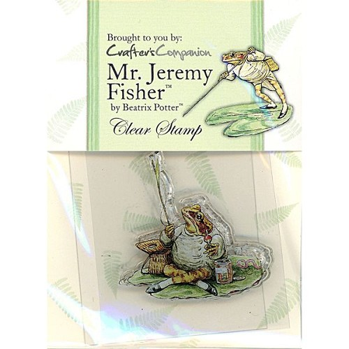 Beatrix Potter Acrylic Stamp - Mr Jeremy Fisher