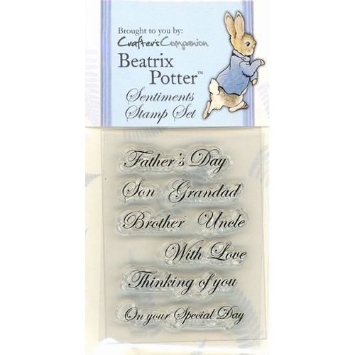 Beatrix Potter Acrylic Stamp set - Male sentiments
