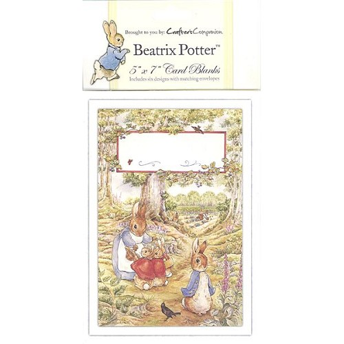 Beatrix Potter Card Blank 6 pack - 5