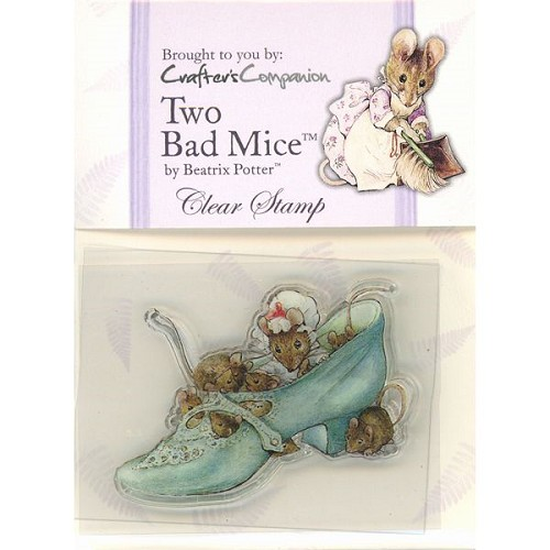 Crafters Companion Beatrix Potter Acrylic Stamp - Two Bad Mice
