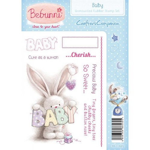 Crafters Companion Bebunni Baby Unmounted Rubber Stamp - Baby