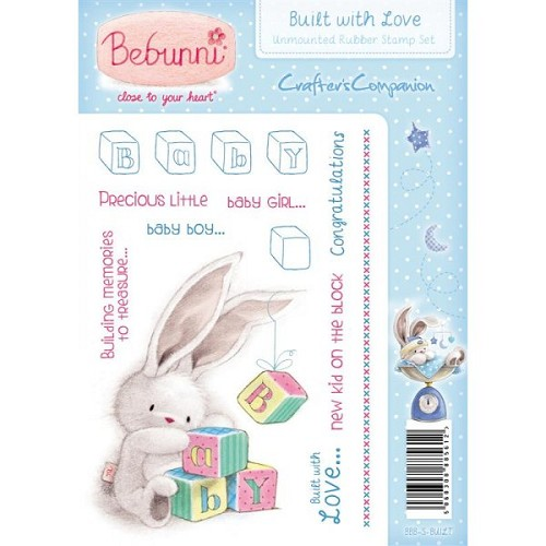 Crafters Companion Bebunni Baby Unmounted Rubber Stamp - Built W
