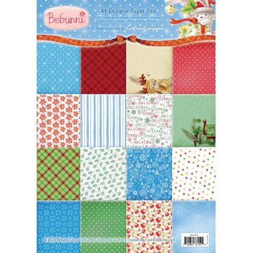 Bebunni Kerstmis A4 Paper Pad door Crafter`s Companion