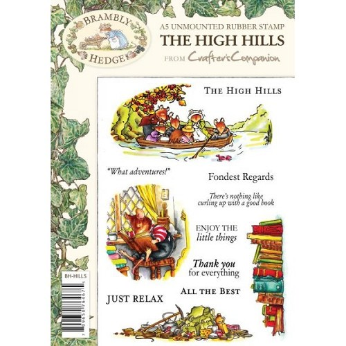 Crafters Companion Brambly Hedge Stamp Set - High Hills
