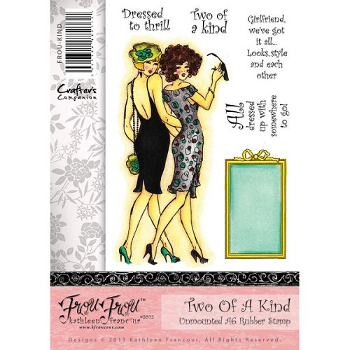 Crafters Companion Frou Frou Unmounted Rubber Stamp Set - Two of