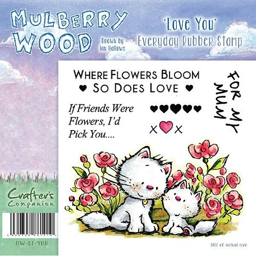 Mulberry Hout - Love You Everyday Rubber Stamp door Companion Cr