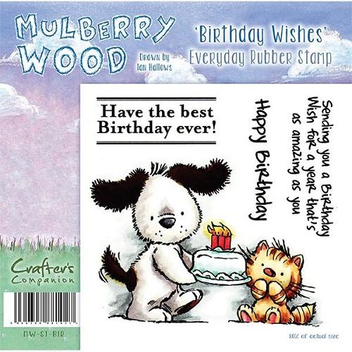 Mulberry Hout - De verjaardag wenst Everyday Rubber Stamp door C