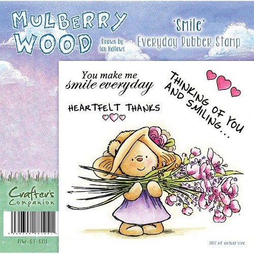 Mulberry Hout - Smile Everyday Rubber Stamp door Companion Craft