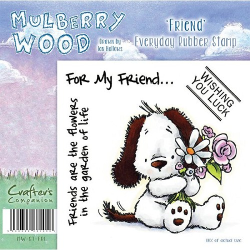 Crafters Companion Mulberry Wood - Friend Everyday Rubber Stamp