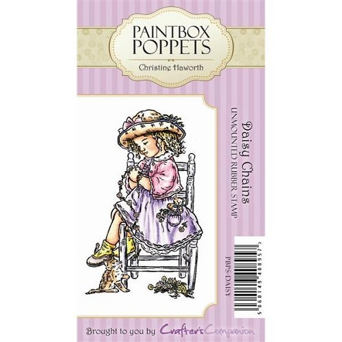 Paintbox Poppets Unmounted Rubber Stamp Set - Daisy Chains by Cr