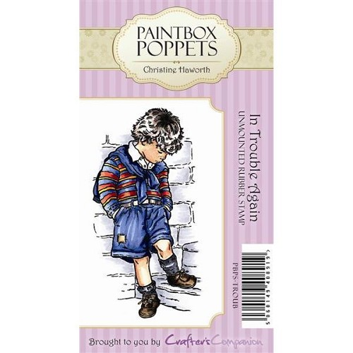 Paintbox Poppets Unmounted Rubber Stamp Set - In Trouble Again b