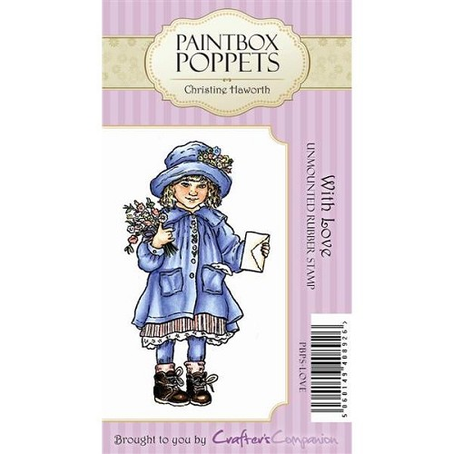 Paintbox Poppets Unmounted Rubber Stamp Set - With Love by Craft