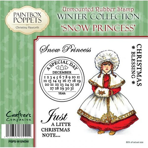 Paintbox Poppets Winter Collection Rubber Stamp - Snow Princess
