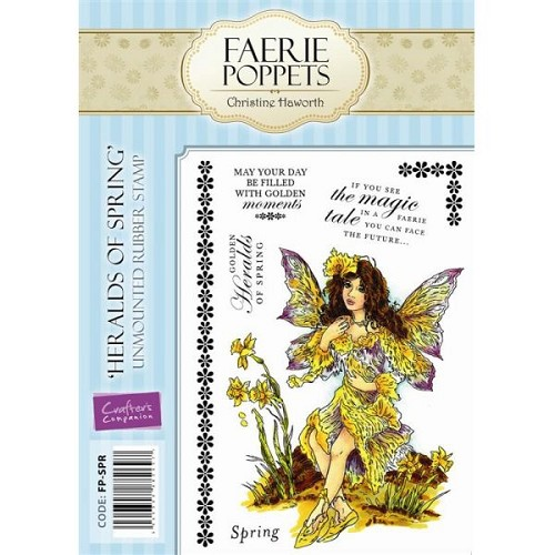 Faerie Poppets Unmounted Rubber Stamp Set - Heralds of Spring by
