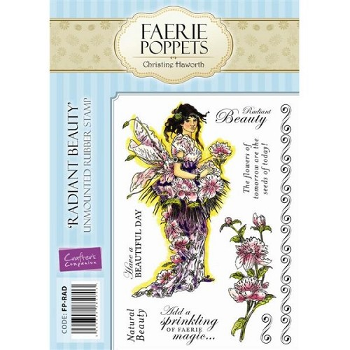Faerie Poppets Unmounted Rubber Stamp Set - Radiant Beauty by Cr