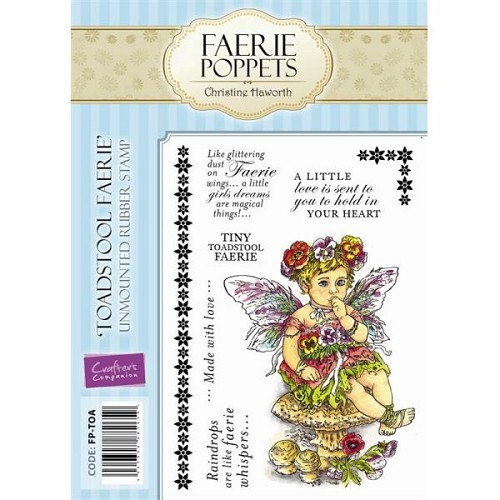 Faerie Poppets Unmounted Rubber Stamp Set - Toadsool Faerie by C