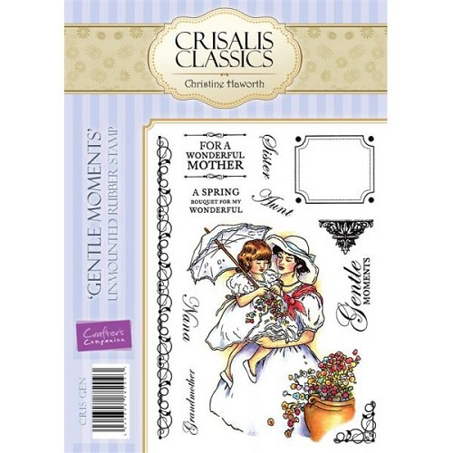 Crisalis Classics Unmounted Rubber Stamp Set - Gentle Moments by