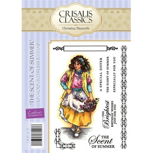 Crisalis Classics Unmounted Rubber Stamp Set - The Scent of Summ