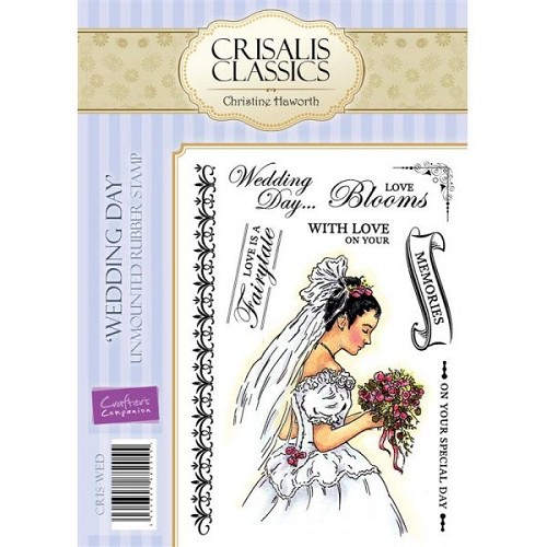 Crisalis Classics Unmounted Rubber Stamp Set - Wedding Day by Cr
