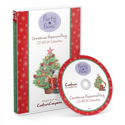 Crafters Companion Party Paws Christmas Papercrafting CD-ROM Col