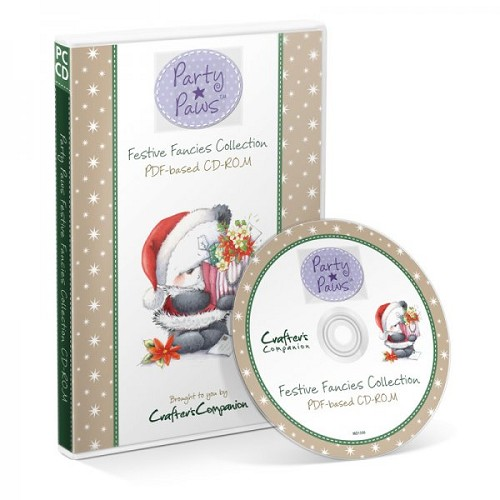 Crafters Companion Party Paws Festive Fancies PDF CD-ROM Collect