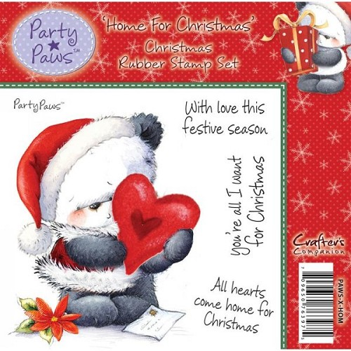 Party Paws Rubber Stamp - Home For Christmas