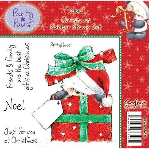 Party Paws Rubber Stamp - Noel