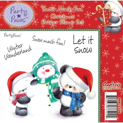 Party Paws Rubber Stamp - Snow Much Fun