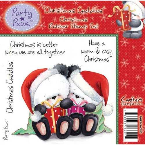 Party Paws Rubber Stamp - Christmas Cuddles