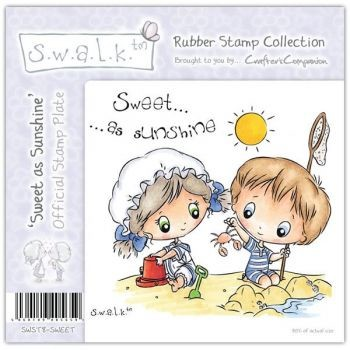 S.w.a.l.k. Unmounted Rubber Stamp - Sweet as Sunshine by Crafter