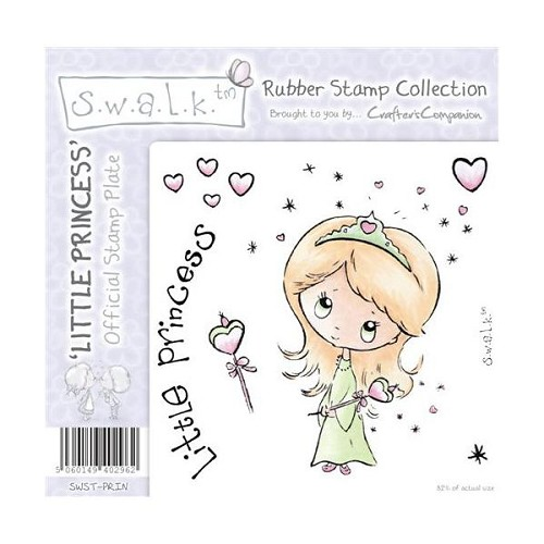 S.w.a.l.k. Unmounted Rubber Stamp - Little Princess. by Crafter`