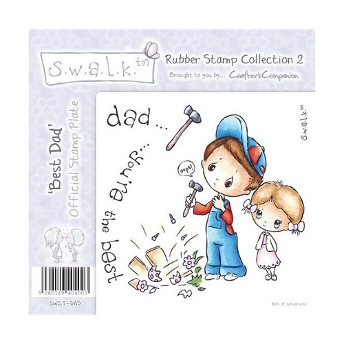 S.w.a.l.k. Unmounted Rubber Stamp - Best Dad. by Crafter`s Compa