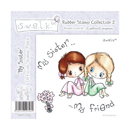 S.w.a.l.k. Unmounted Rubber Stamp - My Sister. by Crafter`s Comp
