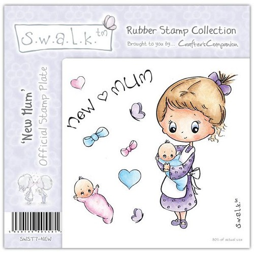 S.w.a.l.k. Unmounted Rubber Stamp - New Mum by Crafter`s Compani