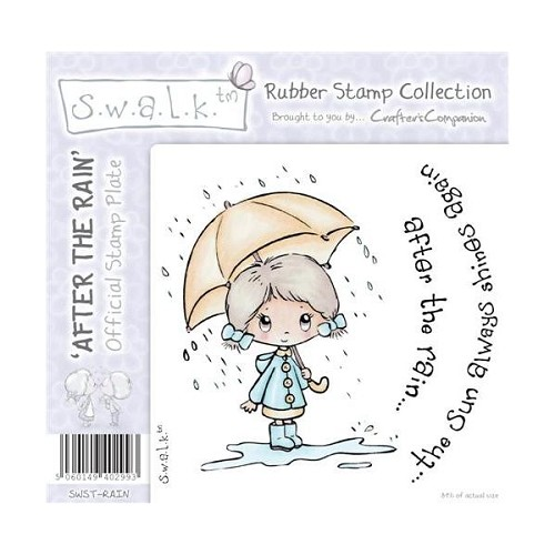 S.w.a.l.k. Unmounted Rubber Stamp - After the Rain. by Crafter`s