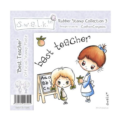 S.w.a.l.k. Unmounted Rubber Stamp - Best Teacher. by Crafter`s C