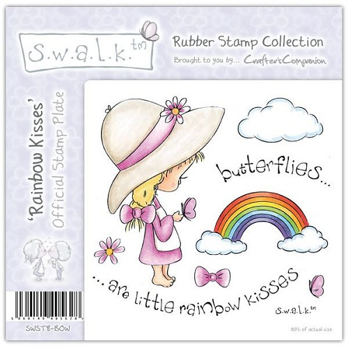 S.w.a.l.k. Unmounted Rubber Stamp - Rainbow Kisses by Crafter's