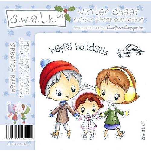 S.w.a.l.k. Unmounted Rubber Stamp - Happy Holidays by Crafter`s