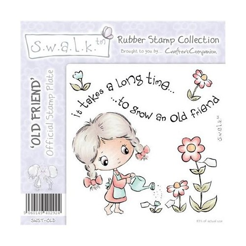 S.w.a.l.k. Unmounted Rubber Stamp - Old Friend. by Crafter`s Com